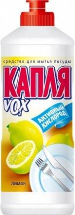 Гель д/мытья посуды КАПЛЯ VOX 500г Лимон