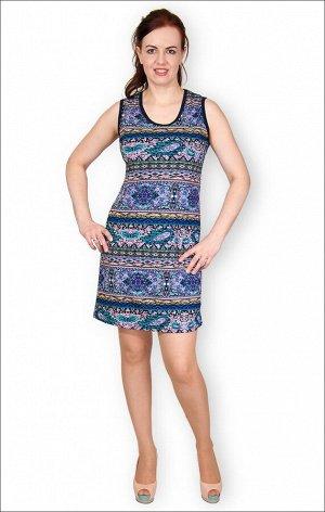Платье трикотажное, узор (149-6)