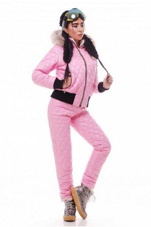 Зимний костюм на силиконе нежно розового цвета Розовый