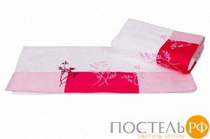 """H0000391 Махровое полотенце с вышивкой 70x140 """"FLORA"""", белый, 100% Хлопок"""