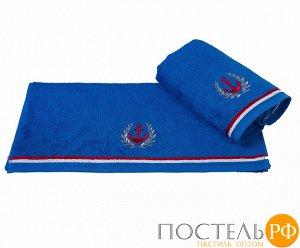 """H0001166 Махровое полотенце с вышивкой 50x90 """"MARITIM"""", синий, 100% Хлопок"""