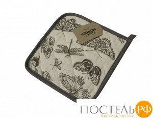 Прихватка «Бабочки» рогожка наб. 20х20