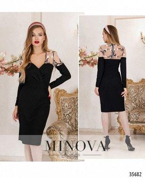 Платье №1886-черный