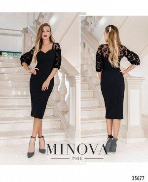 Платье №1887-1-черный