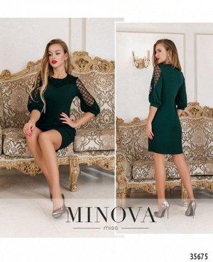 Платье №4122-1-темно-зеленый