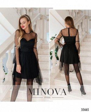 Платье №1876-черный