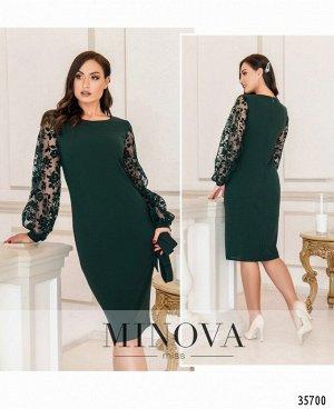 Платье №17690-1-темно-зеленый