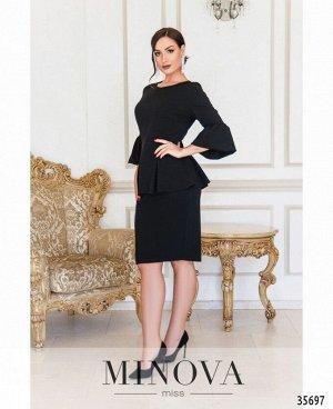 Платье №4126-1-черный