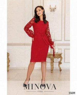 Платье №17690-1-красный