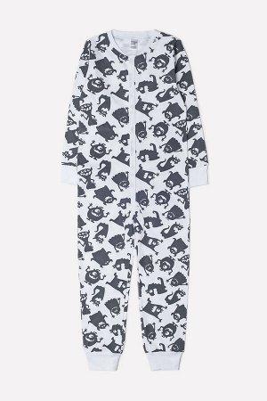 Комбинезон пижама детская Crockid К 6268 веселые друзья на белом