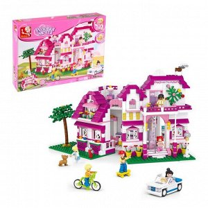 Конструктор «Розовая мечта: загородная вилла», 726 деталей