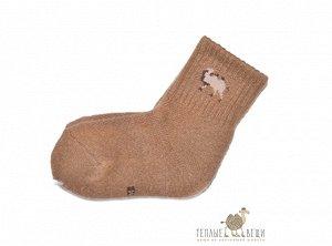 """Носки детские из шерсти """"Верблюд"""" (коричневые)"""