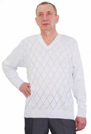 Джемпер гигант белый, хлопок