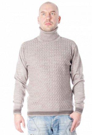 Свитер 097 синий бежевый Состав: 30% шерсть, 70% акрил Описание: Стильный вязаный свитер для мужчин с узорным рисунком.Высокий воротник-стойка и мягкая ткань согреет в любую непогоду!
