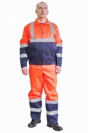 Костюм 906 Рост 170-176 Состав: 80% ПЭ, 20% хлопок Описание: Костюм состоит из куртки и брюк. Куртка укороченная на поясе с резинкой по бокам, с застежкой на пуговицы, Светоотражающая полоса (СОП) по