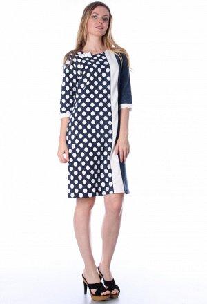Платье 237 Состав: 72%хлопок,20%ПЭ,8%лайкра Описание: Стильное и немного строгое черно-белое платье. Платье отлично сидит на любой фигуре, а эффектно скомбинированные рисунки визуально стройнят и удли