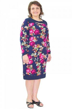 Платье 212 цветы Состав: хлопок 100% Описание: Летнее вечернее платье из материала - интерлок.