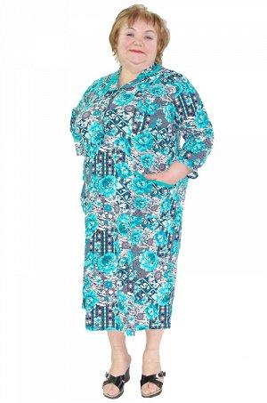Платье 057 цвета в ассортименте Состав: хлопок 100% Описание: Трикотажное домашнее платье из мягкого кулирного полотна (100% хлопок). Модель с оригинальным отложным воротником, отрезной кокеткой на пу