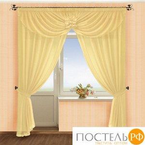 Комплект штор № 022, (250*250)х2(145*510) крем