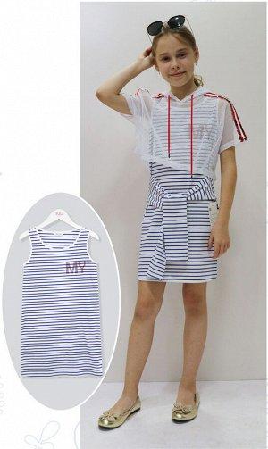 Платье Deloras 20105 Сине-белая полоска *