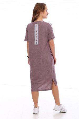 Платье Цвет: сухая роза; Состав: 50%хлопок, 50%пэ; Материал: Кулирка Платье одновременно классического и спортивного стиля. Можно сочетать как с каблучками, так и с кроссовками.