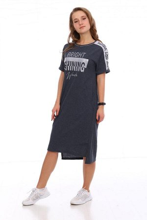 Платье Характеристики: Состав- 50%-хлопок, 50%-ПЭ; Материал: Кулирка Это платье сочетает в себе удобство и женственность. Можно сочетать как с каблучками, так и с кроссовками. Идеальное платье для тех