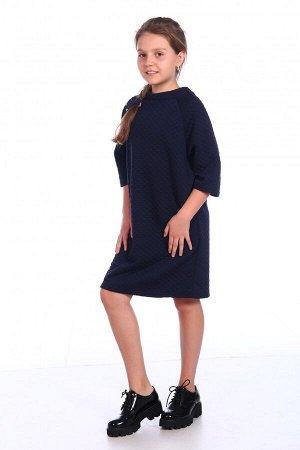 Платье Материал: Платье свободного силуэта, длиной до колена. Рукава длиной 3/4.Очень емкие уютные кармашки в боковых швах. Юные модницы оценят наши старания по созданию этой модели. Материал: дубли
