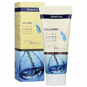 Farm Stay Collagen Pure Cleansing Foam Пенка для умывания на основе коллагена 180 мл