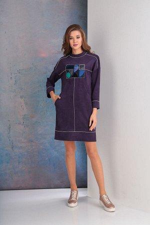 Платье Платье Golden Valley 4509 баклажан  Состав ткани: Вискоза-33%; ПЭ-65%; Эластан-2%;  Рост: 170 см.  Платье с втачным воротником - стойкой, застежкой на две навесные петли и пуговицы по стойке с