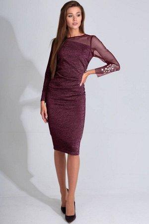 Платье Платье Golden Valley 4608 №1  Состав ткани: ПЭ-76%; Спандекс-4%; Металл-20%;  Рост: 170 см.  Платье без воротника, с круглым вырезом горловины, застежкой на потайную молнию в среднем шве спинк