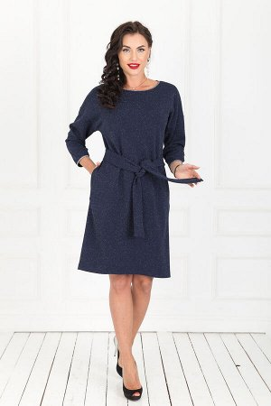 Платье Даймонд (мерцающий синий) П1047-7