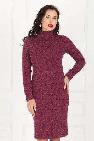 Платье - водолазка (бордо) П1062-8