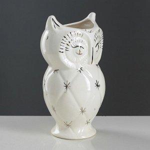 """Ваза настольная """"Сова"""". белая. 25 см. керамика"""