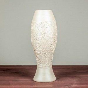 """Ваза настольная """"Индиго"""". ажурная. 38 см. керамика"""