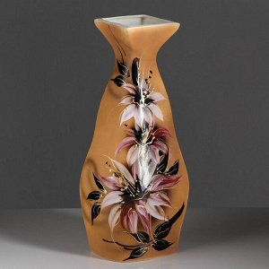 """Ваза напольная """"Мадра"""", цветы, 40 см, керамика"""