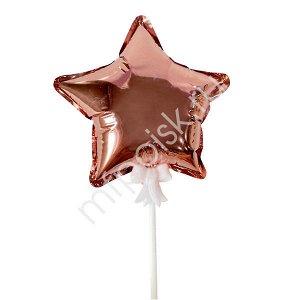 Шар самодув Звезда Rose Gold 15 см