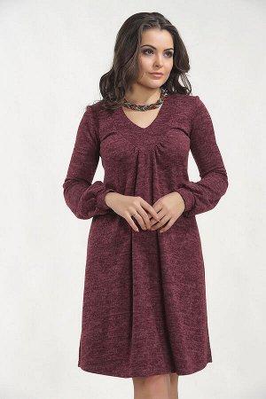 Платье Теплый трикотаж, Бордовый