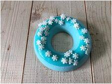 """Бомбочка для ванн """"Пончик. Голубой с посыпкой"""""""