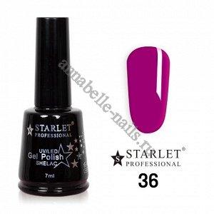 Гель-лак Starlet Professional №036 «Вишня», полупрозрачный