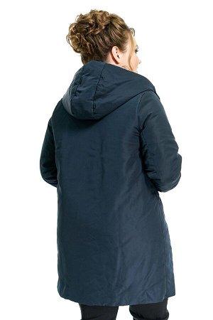 """Куртка """"Парка"""" синяя со вставками хаки"""