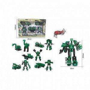 5588 набор трансформеров-роботов, 5в1, в коробке 21060