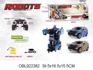 666-627 ХА трансформер- машина р/у, в коробке 922382
