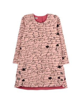 Платье 996А розово-черный