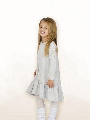 Платье 872А4 серый