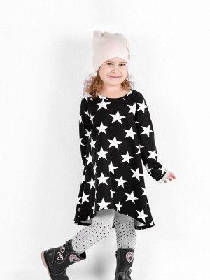 Платье 869А5 бело-черный