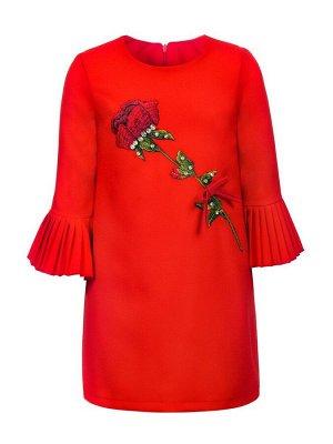Платье с вышивкой со стразами