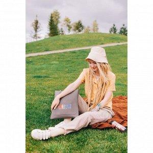 Сумка молодёжная, отдел на молнии, наружный карман, цвет серый