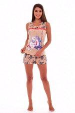 Пижама женская 1-92б (бежевый)