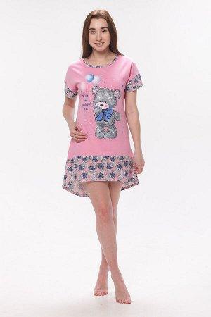 Туника подростковая 12-013а (розовый)