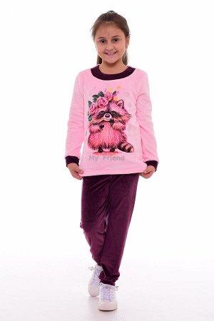 Костюм детский 7-218в (розовый + фиолетовый)